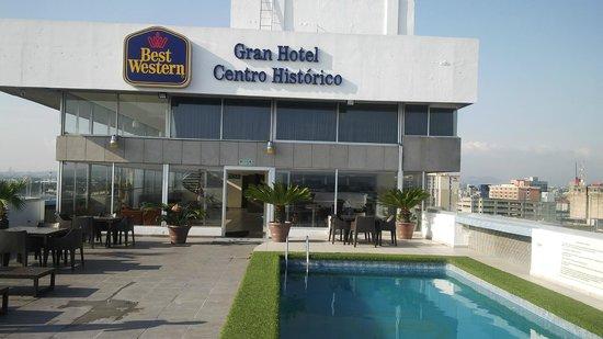 Best Western Gran Hotel Centro Historico: Rooftop