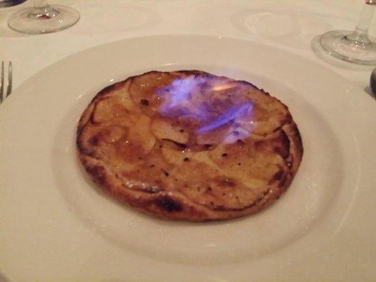 Chez Patrick : Flambéed Tarte aux Pommes au Calvados