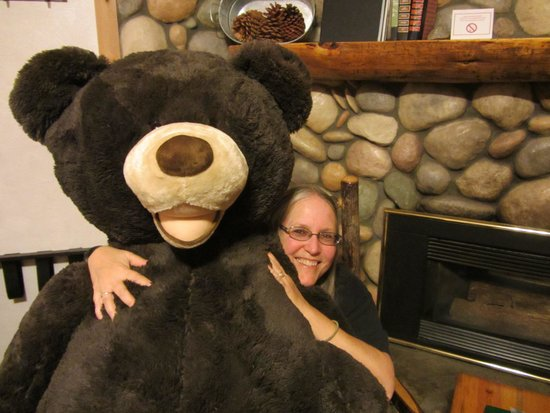 Fireside Lodge Bed and Breakfast: The friendly bear!