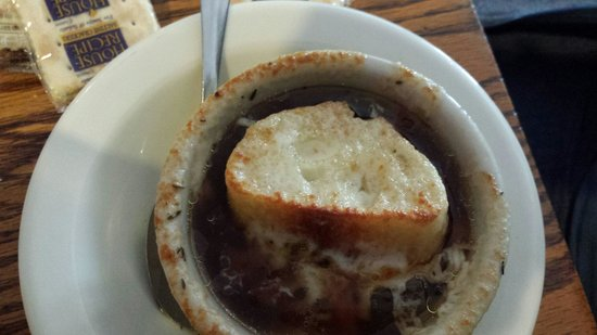 Out of the Ordinary Hickory Sports Bar: Cup of French onion soup