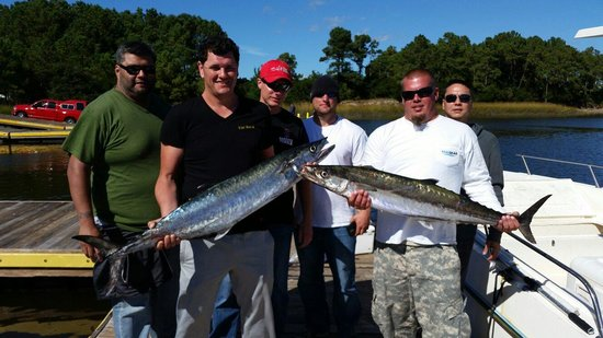 Capt john did great on a tough day picture of oak island for Oak island fishing charters