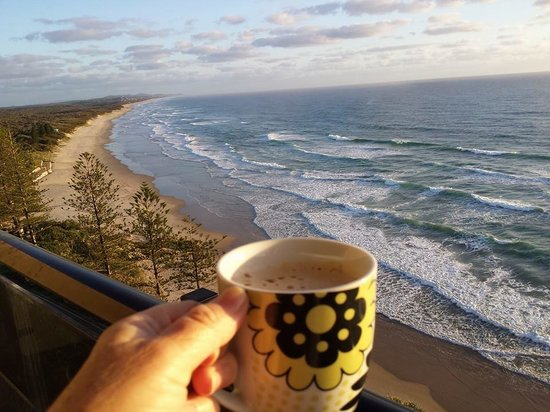 Clubb Coolum Beach: Cofffee with a View