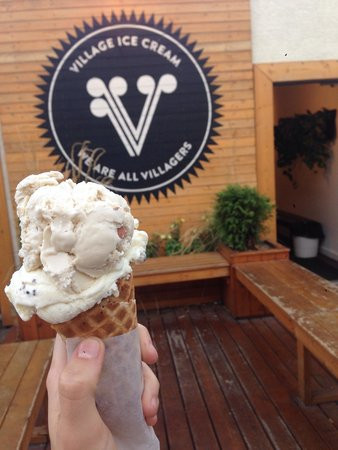 Village Ice Cream: maple pecan & guides mint