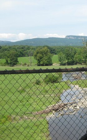 The Wallkill Valley Rail Trail: View of Mohonk Mountain