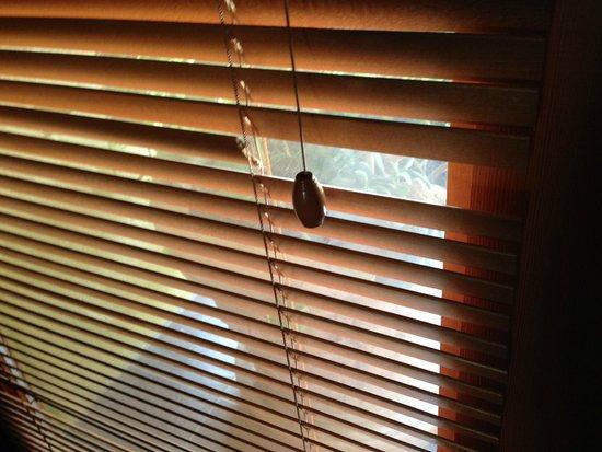 Sonoma Coast Villa & Spa: broken blind where light streamed in at night right onto pillow!