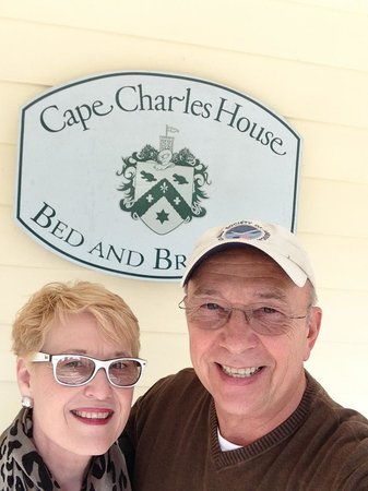 Cape Charles House Bed and Breakfast: On the porch at Cape Charles House