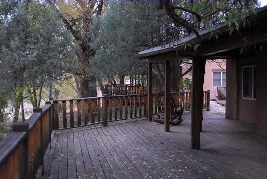 Bishop's Lodge Resort & Spa: Deck outside of room