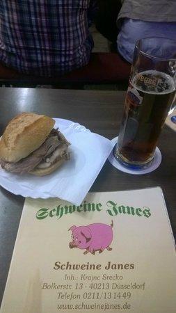 Schweine Janes: Haxenbrötchen mit Altbier günstig und supergut