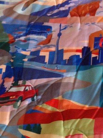 Motel 6 Lake Delton: fun looking comforter