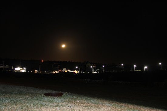 The Cove Oceanfront Campground: night veiw from campsite
