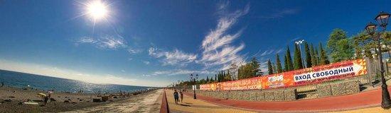 Adler District, Russland: Beach