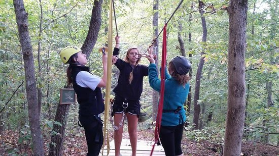 Adventureworks Zip Line Tours: Getting ready for the double line