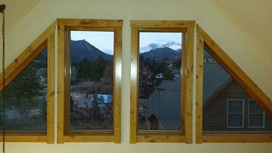 Solitude Cabins: View from 2nd floor bedroom/loft