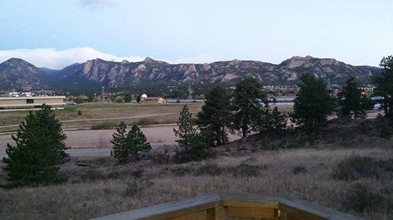 Solitude Cabins: View from 1st floor deck.