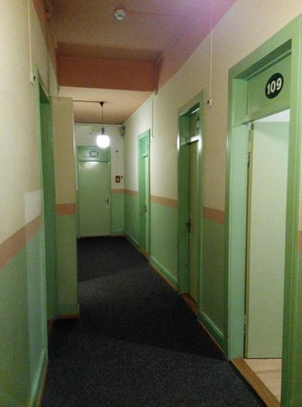 Tourist Hotel: Corridor to the room at Level 1