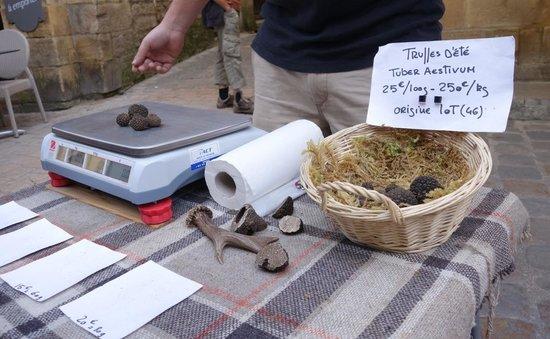 Hotel Montaigne: Truffles - Saturday Market in Sarlat (Sept 2014)