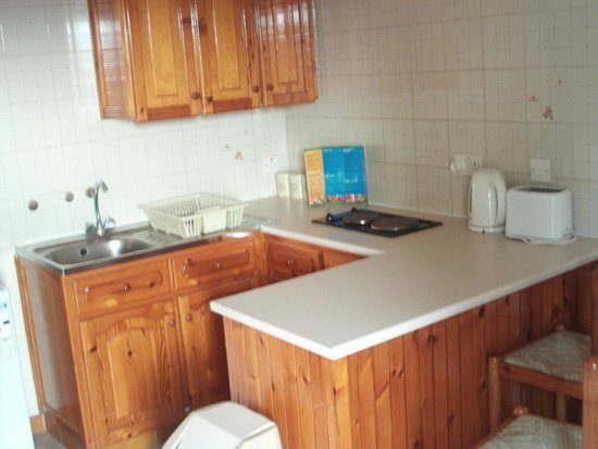 Lysithea Beach Hotel Apartments: Kitchenette