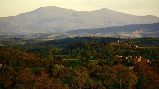 Castello di San Fabiano : Panorama dei dintorni del castello