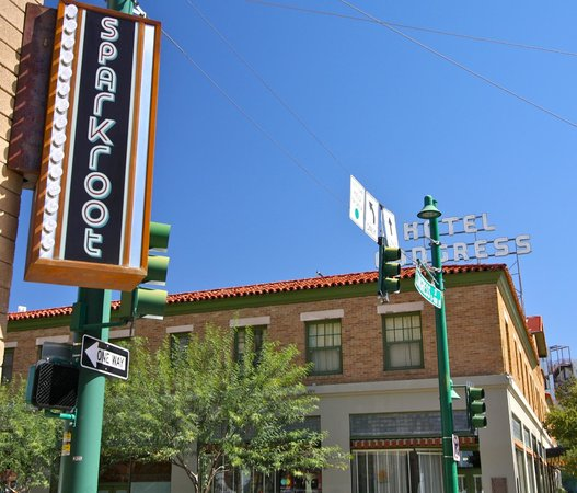 Tucson Food Tours : Tucson Food Tour- Sparkroot and Hotel Congress Sign