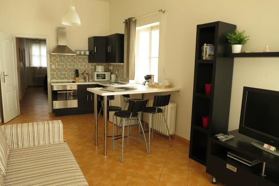 Happy Prague Apartments: A corner of the living room and dining place