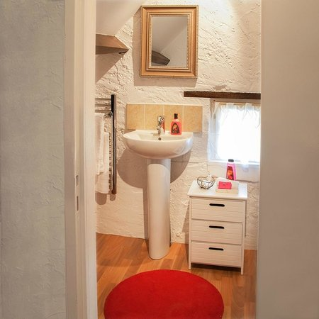Noyant, Francia: Ensuite Bathroom in the Wine Store