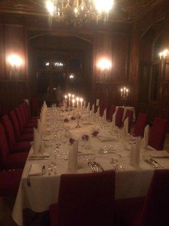 Schloss Eckberg : Vue de la salle à manger