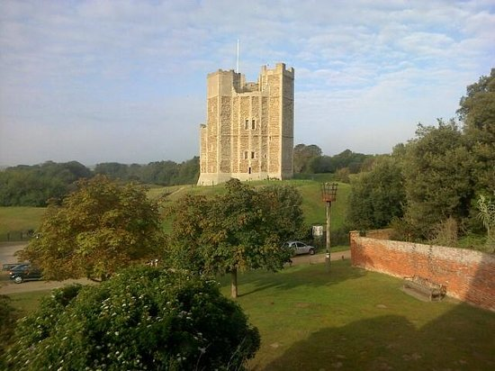 The Crown & Castle: View from bathroom window