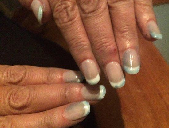 Defective treatment blue nails @ Harvey Nichols - Picture of Harvey ...