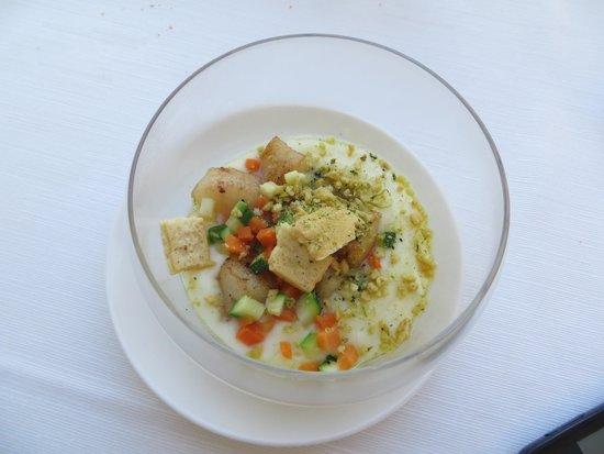 Gostilna Pri Lojzetu - Castle Zemono: Capasanta su vellutata di patate