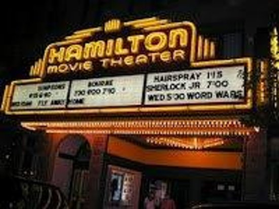 The Hamilton Movie Theater Marquee