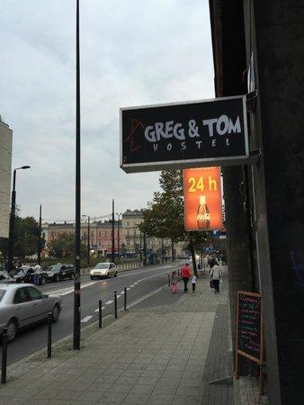 Greg & Tom Hostel: front door