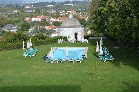Pousada de Condeixa-Coimbra: garden and pool, window view
