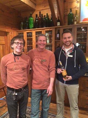 Alexis Bailly Vineyard: The three fun gentlemen!