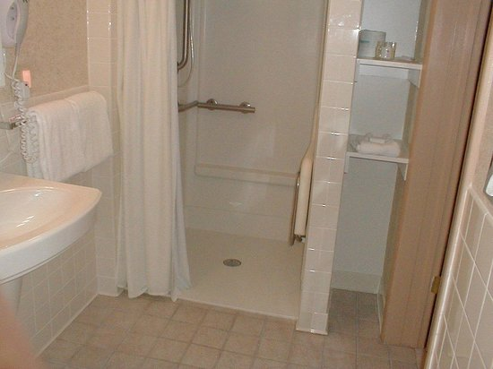 Ramada State College Hotel & Conference Center: Handicap Accessible Bathroom