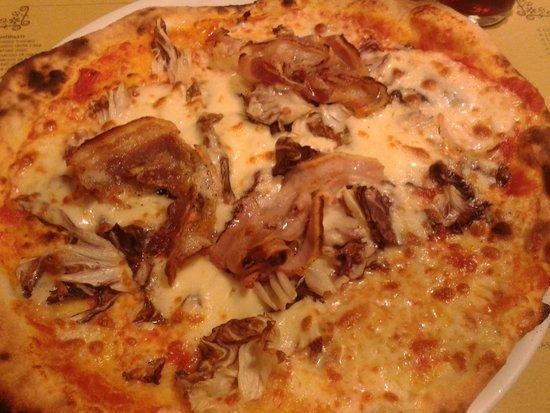 San Jacopino Trattoria Pizzeria: pizza radicchio e pancetta