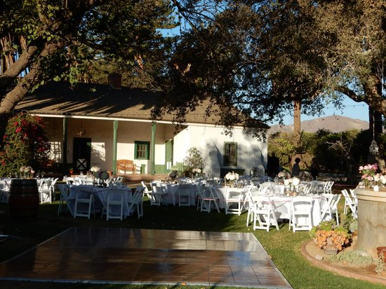 Piru, Califórnia: Rancho set up for a wedding