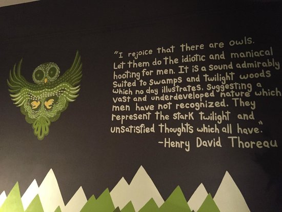 Ace Hotel Portland: Inspiring quotes and artwork on the wall in one of the rooms