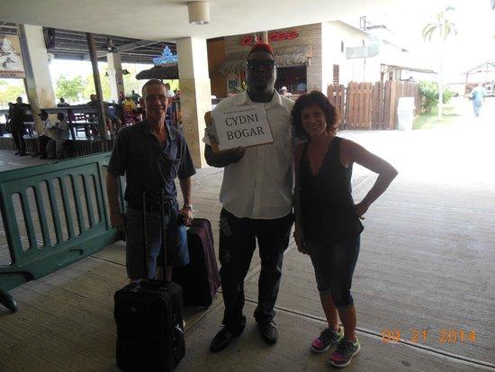 Your Jamaican Tour Guide : Our friendly greeter, Aldane