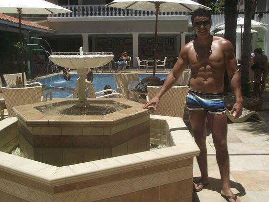 Entrada piscina picture of hotel villa mayor fortaleza for Entrada piscina
