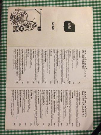 MLS Waffle point U Kajetána: Menu