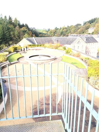 New Lanark World Heritage Village: the roof garden