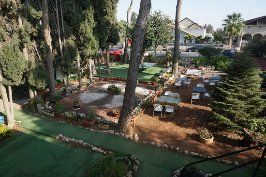 Safed Inn: View of garden