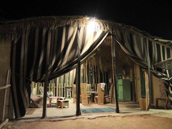 Kfar Hanokdim: The shared patio area by our room