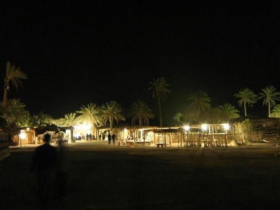 Kfar Hanokdim: The main dinig tent and shop