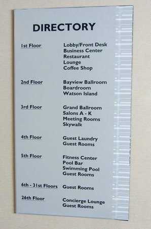 Guest Room Directory For Hotel