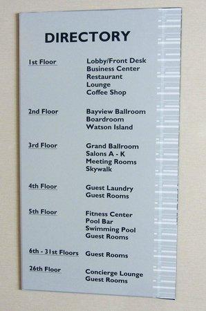 Hotel Directory Picture Of Miami Marriott Biscayne Bay Miami Tripadvisor