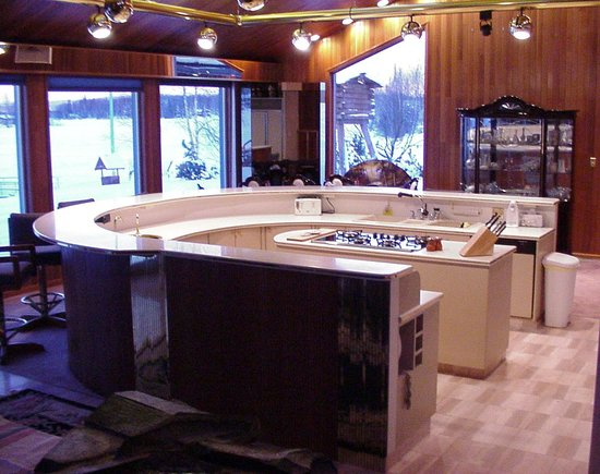 Big Lake, AK: Kitchen area of Cedar Home