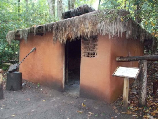 Oconaluftee Indian Village A Typical Mud Hut Of The 1600s