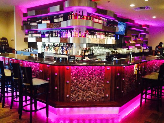 Wonderful bar with colorful changing lights picture of akashi akashi asian bistro wonderful bar with colorful changing lights aloadofball Image collections
