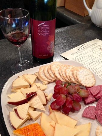 Chateau Thomas Winery: This is the SMALL Cheese plate for $8.00 = gracious plenty!